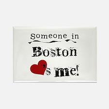 Boston Loves Me Rectangle Magnet