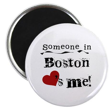 Boston Loves Me Magnet