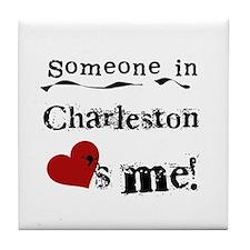 Charleston Loves Me Tile Coaster