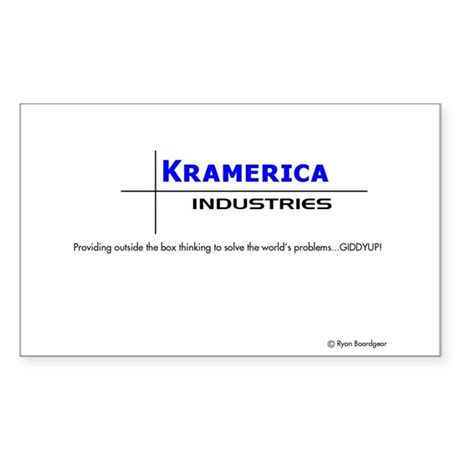Kramerica Industries Rectangle Sticker