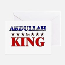 ABDULLAH for king Greeting Card