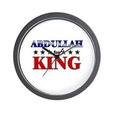 ABDULLAH for king Wall Clock