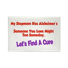 Stepmom alzheimer's Rectangle Magnet