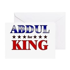 ABDUL for king Greeting Card
