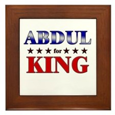 ABDUL for king Framed Tile