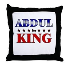 ABDUL for king Throw Pillow