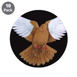 "Domestic Flight Pigeon 3.5"" Button (10 pack)"