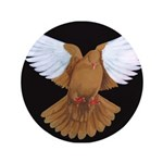 "Domestic Flight Pigeon 3.5"" Button"