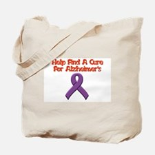 Alzheimer's help find cure Tote Bag