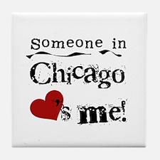 Chicago Loves Me Tile Coaster