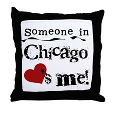Chicago Loves Me Throw Pillow
