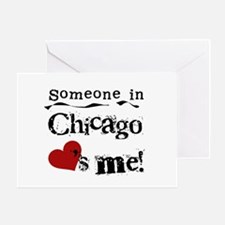 Chicago Loves Me Greeting Card