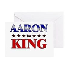 AARON for king Greeting Card