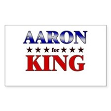AARON for king Rectangle Decal