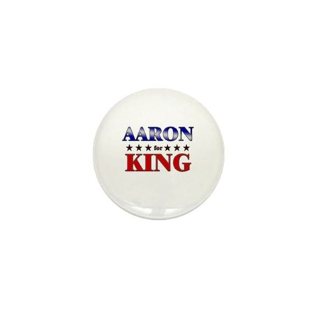 AARON for king Mini Button