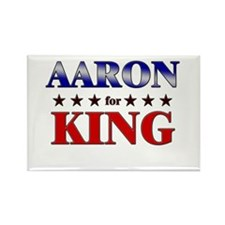 AARON for king Rectangle Magnet