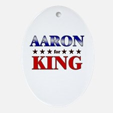 AARON for king Oval Ornament