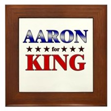 AARON for king Framed Tile