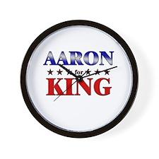 AARON for king Wall Clock