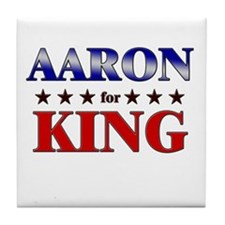 AARON for king Tile Coaster