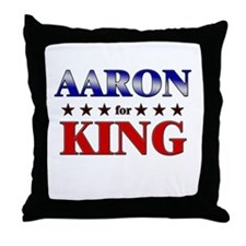 AARON for king Throw Pillow