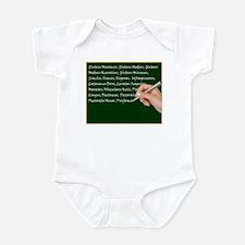 Muscle Chalk Board Infant Bodysuit