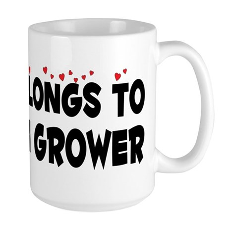 Belongs To A Cotton Grower Large Mug