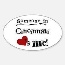 Cincinnati Loves Me Oval Decal