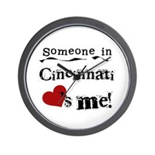 Cincinnati Loves Me Wall Clock