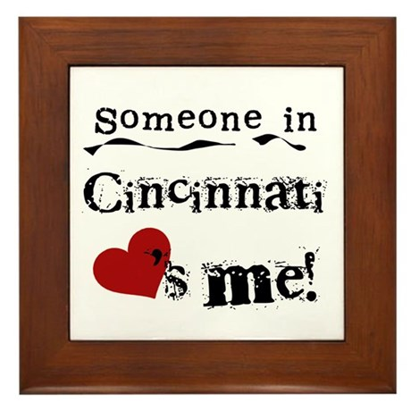 Cincinnati Loves Me Framed Tile