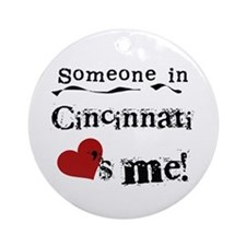 Cincinnati Loves Me Ornament (Round)