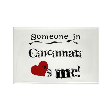Cincinnati Loves Me Rectangle Magnet