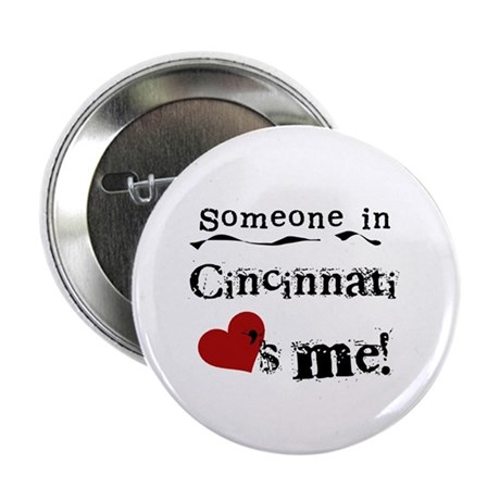 "Cincinnati Loves Me 2.25"" Button (100 pack)"