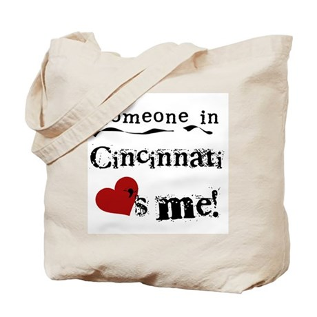 Cincinnati Loves Me Tote Bag