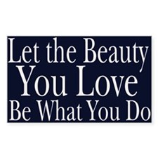 Let the Beauty (midnight) Rectangle Decal