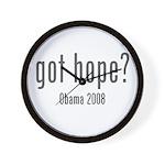 Got Hope? Obama 2008 Wall Clock