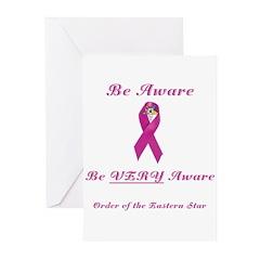 The OES Pink BC Ribbon Greeting Cards (Pk of 20)