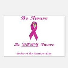The OES Pink BC Ribbon Postcards (Package of 8)