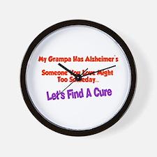 Grampa alzheimer's Wall Clock