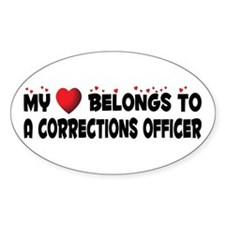 Belongs To A Corrections Officer Oval Decal