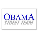 Obama Street Team Rectangle Sticker