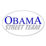 Obama Street Team Oval Sticker