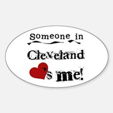 Cleveland Loves Me Oval Decal