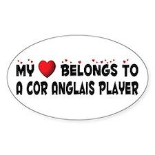 Belongs To A Cor Anglais Player Oval Decal