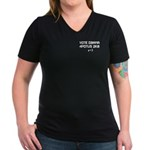 Vote Obama Text Message Women's V-Neck Dark T-Shir