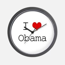 I Heart Obama Wall Clock