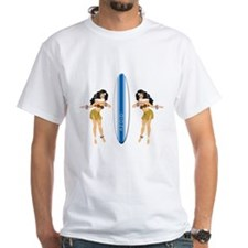2 Hulas with Surfboard Shirt