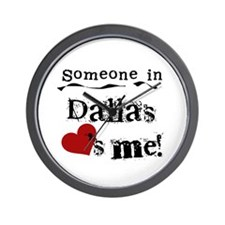 Dallas Loves Me Wall Clock