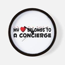Belongs To A Concierge Wall Clock