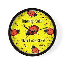Running Late Buggy Wall Clock